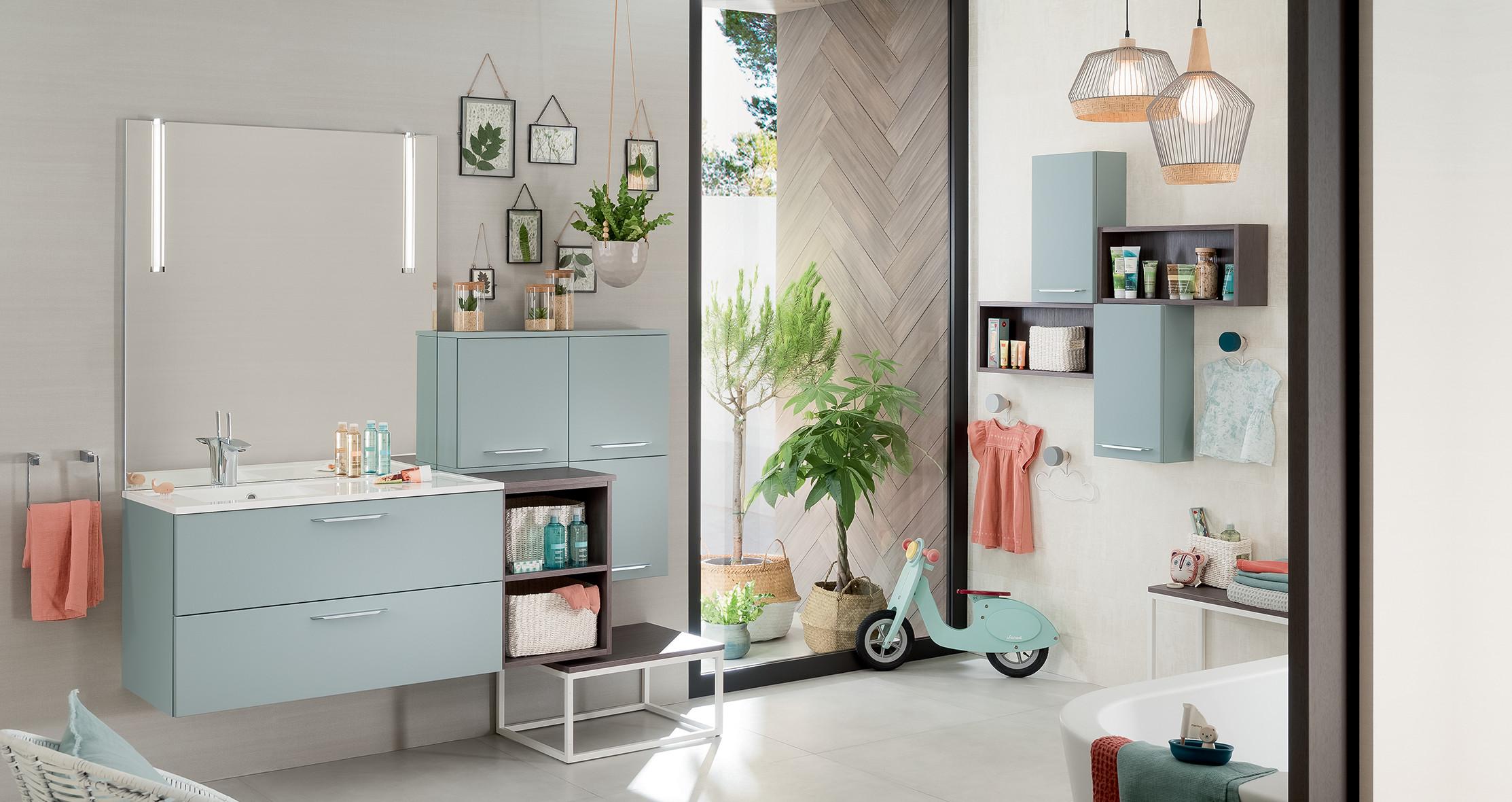 Salle De Bain Chocolat Turquoise mon projet salle de bains | espace aubade