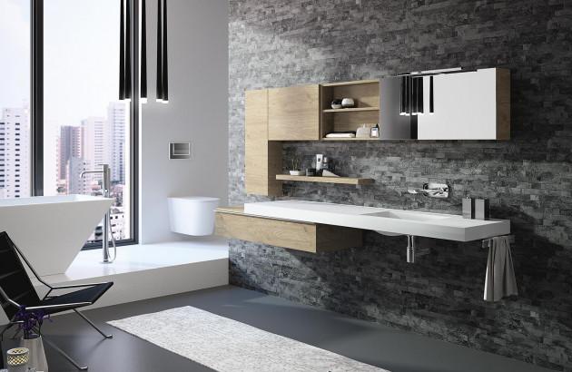 Salle de bain sobre et design avec grande vasque