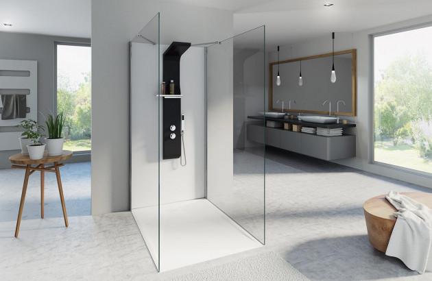 Très grande salle d'eau avec douche à l'italienne