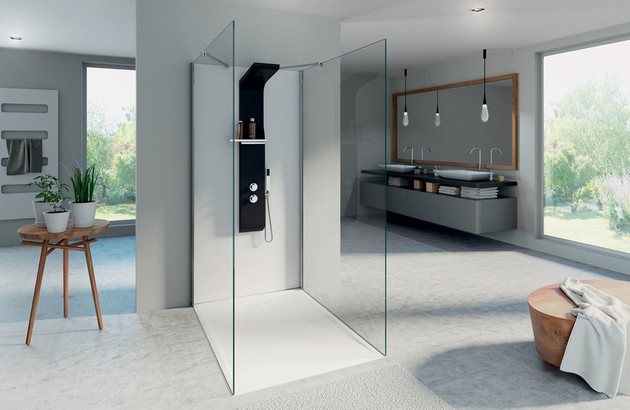 Douche italienne Kinedo Kinewall Design blanc