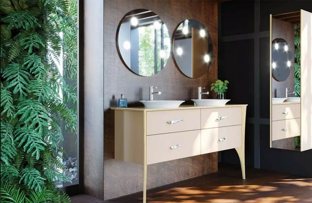 Miroir Tiffany Rond de Décotec