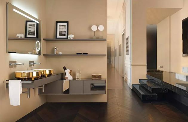 Les meubles sous vasque, les armoires et les commodes