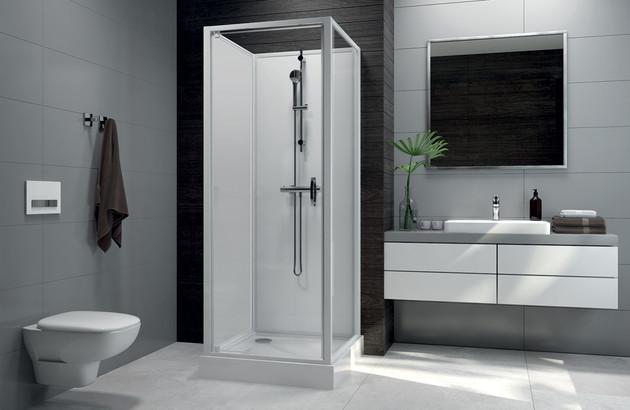 Cabine de douche en verre Corail de Leda