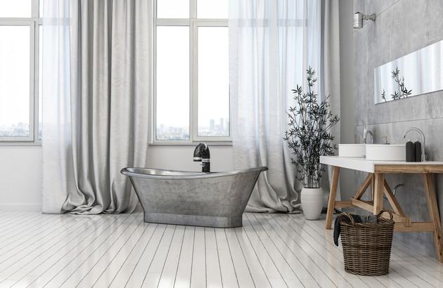 Les baignoires en métal