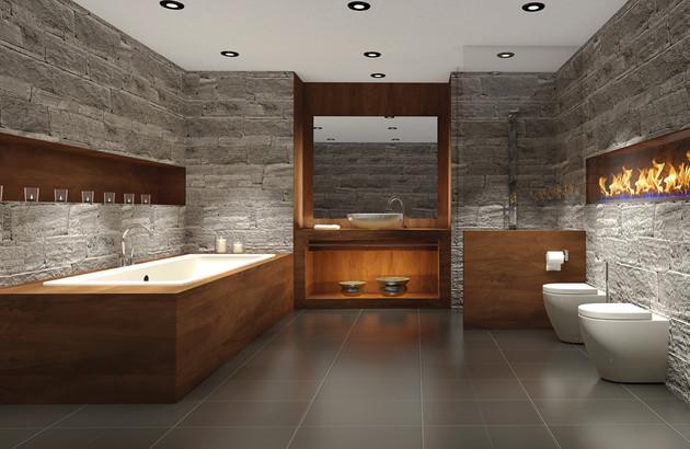 Les baignoires en matériaux naturels