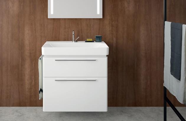 Meuble de salle de bains Jam Allia dans une salle de bains rustique