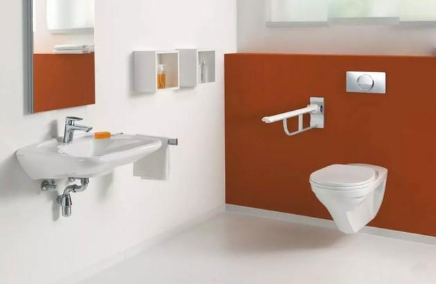 Les WC PMR dans la salle de bains