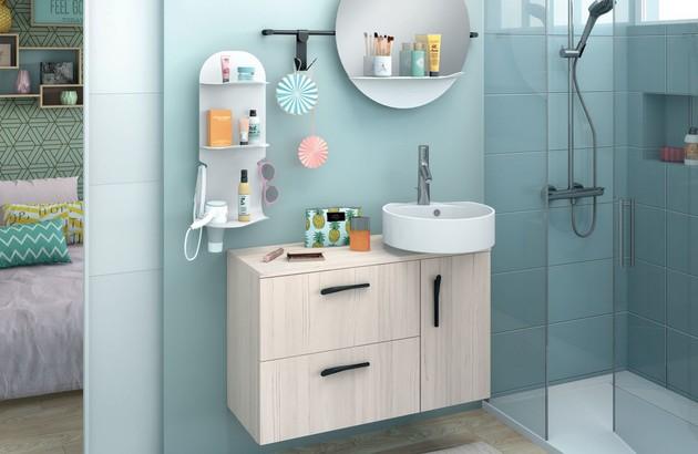Les meubles sous vasque pour une petite salle de bains design