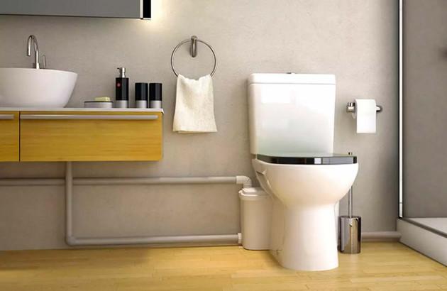 Installation WC broyeur W19P de Watermatic
