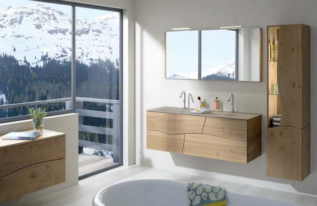 Meubles Sherwood de Sanijura pour une salle de bain naturelle