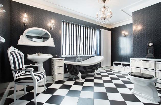 Le lavabo pour les salles de bain rétro