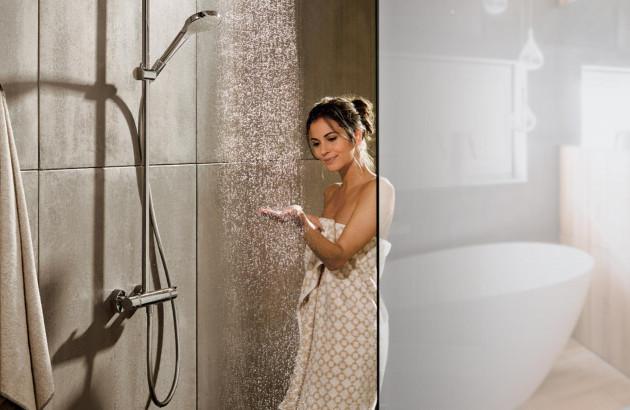 douche hansgrohe en fonction préalablement installée par un professionnel