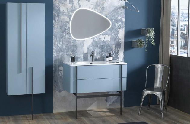 ensemble meuble de salle de bain simple vasque