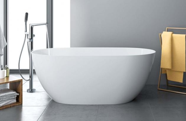 baignoire îlot de forme ovale