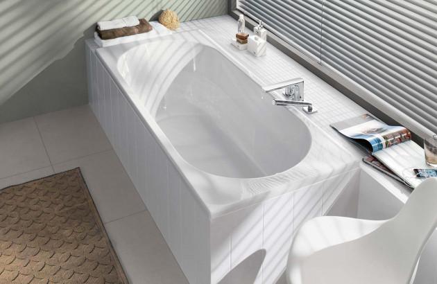 baignoire de forme ovale
