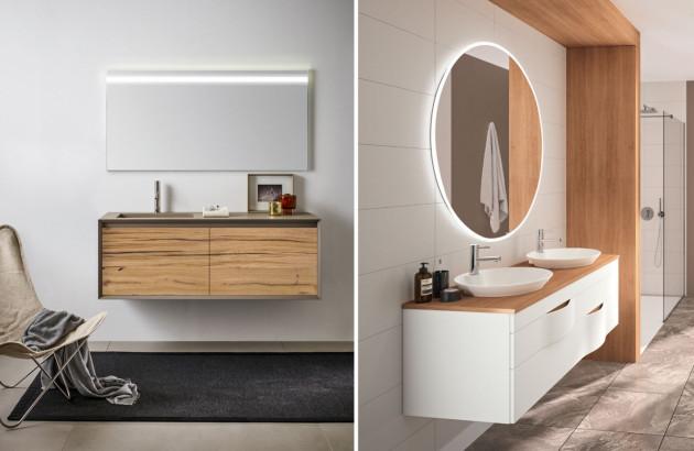 Meuble de salle de bains en bois robuste Iks Full de Stocco et Illusion de Decotec