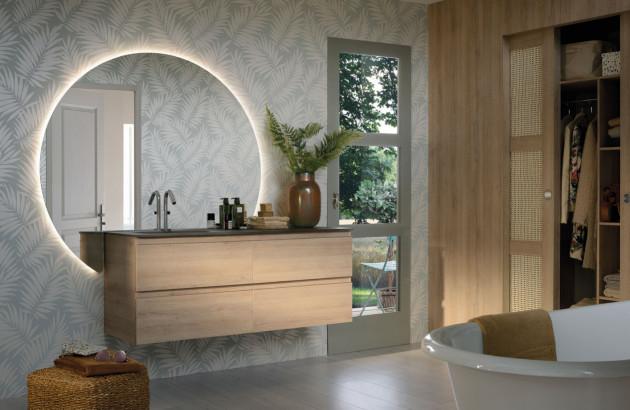 Meuble de salle de bains de qualité en bois Lumen de Sanijura