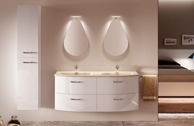 Meuble de salle de bains Elio d'Ambiance Bain, des rangements bas qui conviennent à toute la famille