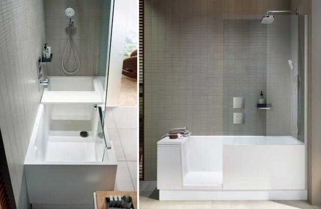 Baignoire Shower & Bath de Duravit, une baignoire avec porte pour un grand confort