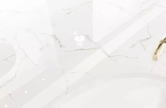 Carrelage Calacata effet marbre