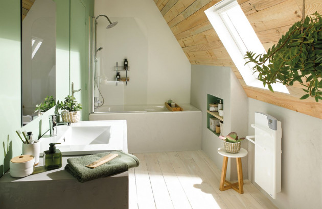 Sèche-serviettes soufflant Majorque design et compact