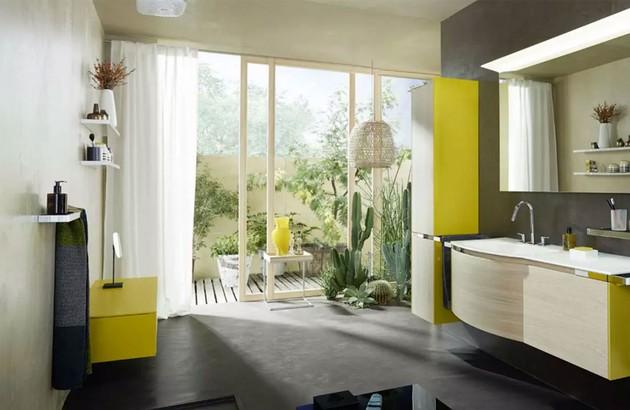 Meuble de salle de bains YSO Burgbad en vert