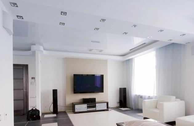 Salon avec climatisation au plafond