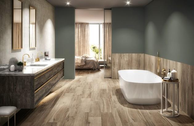 Salle de bains aménagée tout en longueur