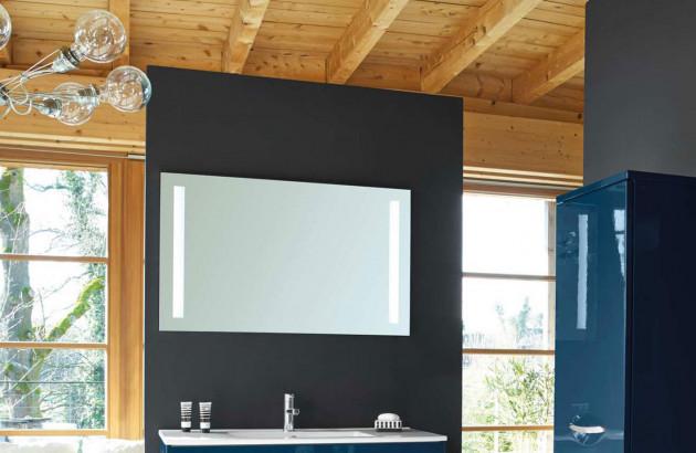 Miroir de salle de bain avec éclairage Major Decotec
