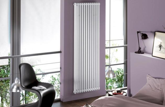 Radiateur vertical en fonte blanc