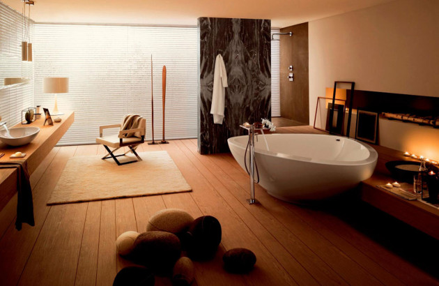 Baignoire îlot : idéal pour grande Salle de bain | Espace Aubade