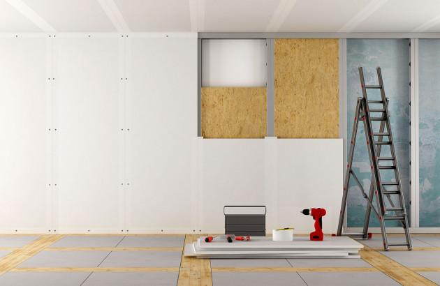 Isolation des murs d'une maison