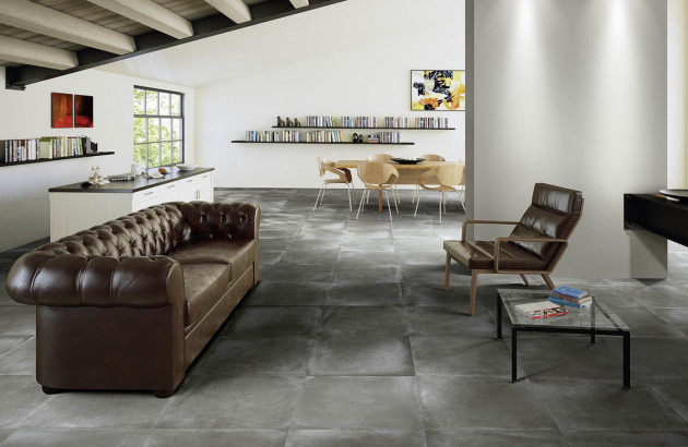 Collection Architect Resin, carrelage effet béton d'Ergon
