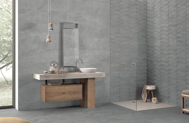 Carrelage effet b ton pour un style unique espace aubade - Beton cire pour carrelage salle de bain ...