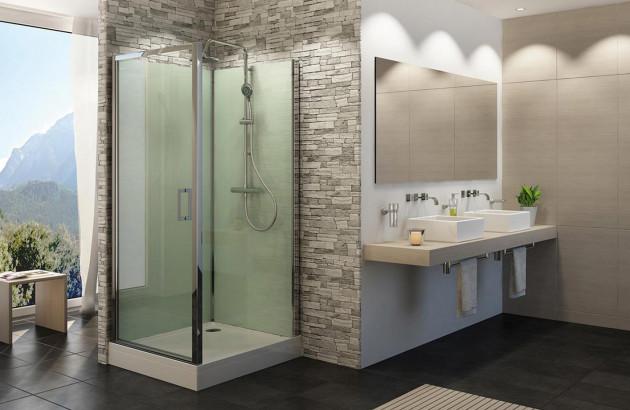 Cabine de douche carré