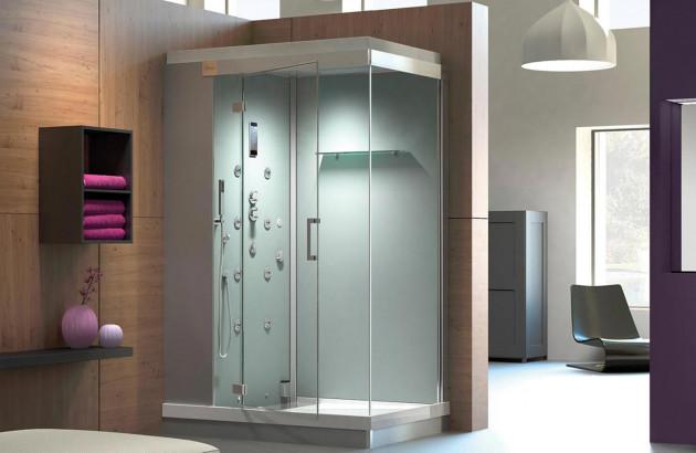 Cabine de douche avec jets hydromassants