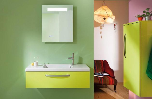 Une salle de bains adaptée aux malvoyants