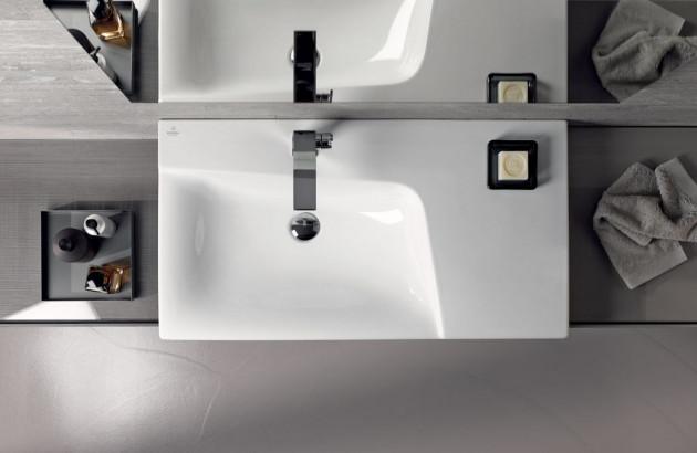 Espace lavabo aménagée dans une salle de bains