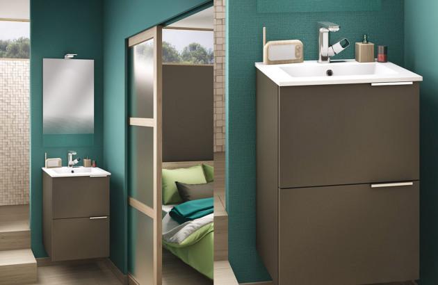 Meuble de salle de bains Kub par Delpha