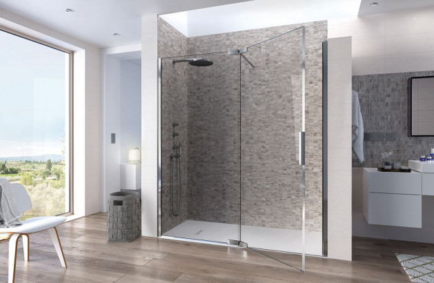 Espace douche bien carrelée