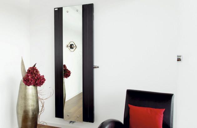 Radiateur vertical miroir