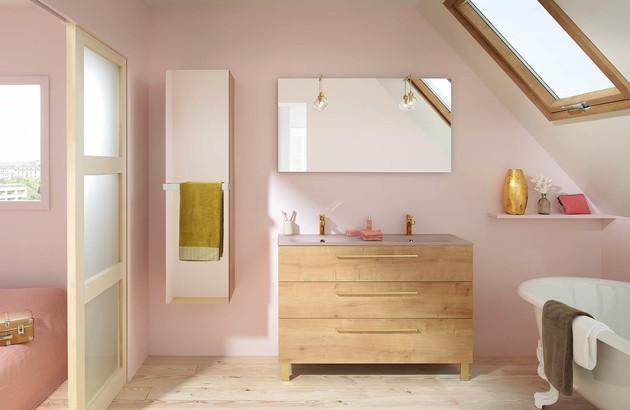 Meuble de salle de bains Luciole en bois de Sanijura