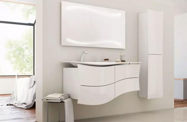 Meuble de salle de bains Maestro Decotec en blanc