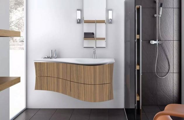 Meuble de salle de bains Maestro en finition bois