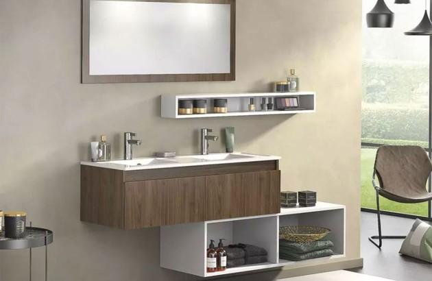 Meuble de salle de bains Delpha D-Motion en finition bois