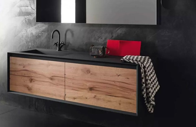 Meuble salle de bains IKS en finition bois