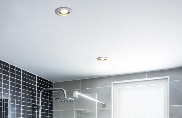 Les spots encastrés LED ont une faible consommation électrique