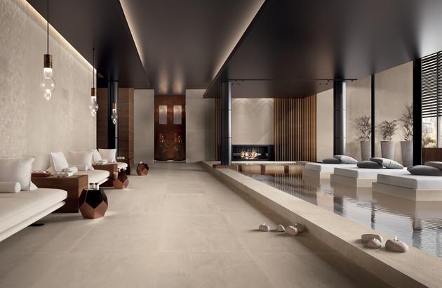 carrelage Stoneone de Marca Corona dans un spa