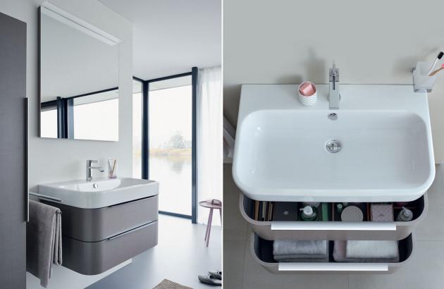 Meuble sous-vasque avec grands tiroirs de rangement
