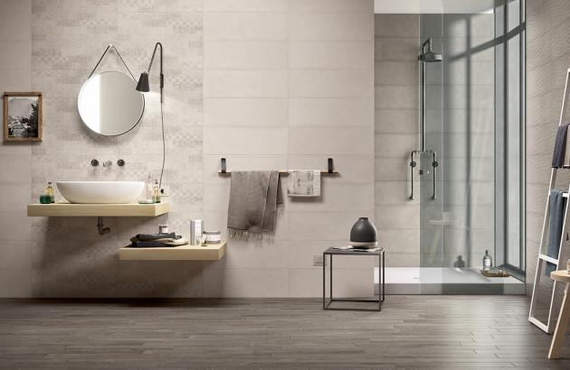 Sublime salle de bains avec du bois